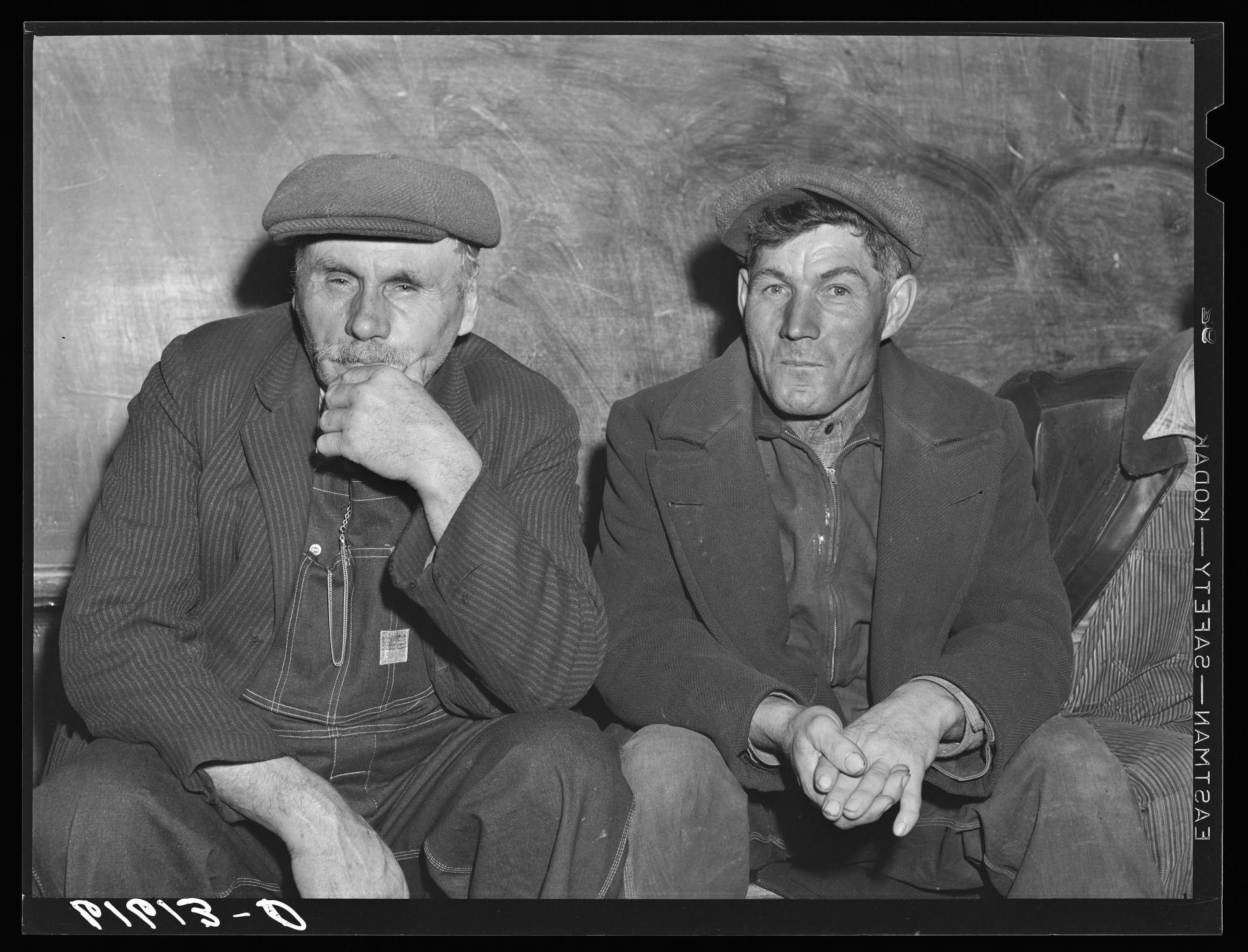 https://hdl.loc.gov/loc.pnp/fsa.8c18110   German-Russian farmers waiting to vote, election day, 1940. Beaver Creek precinct, McIntosh County, North Dakota  Vachon, John, photographer. German-Russian farmers waiting to vote, election day, . Beaver Creek precinct, McIntosh County, North Dakota. McIntosh County McIntosh County. North Dakota United States, 1940. Nov. Photograph. https://www.loc.gov/item/2017811048/.