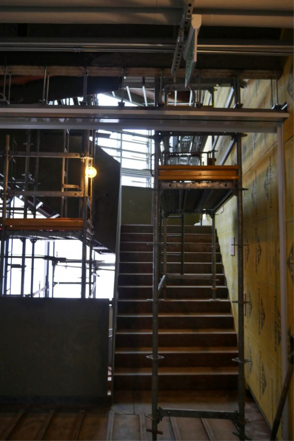 Level two of the Monumental Stair. (Doug Hubley/Bates College)