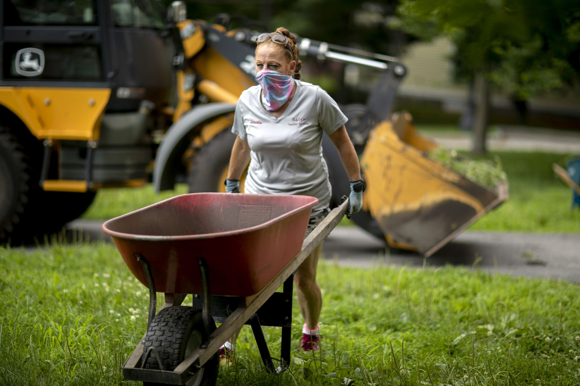 Charlotte I. Barrettcbarrett@bates.eduCustodianFacility Services207-786-8356Cutten Maintenance CenterA Facility Services crew, composed of groundskeepers and custodians, are mulching the beds around campus. Today, July 13, 2020, they tended to 280 College and Rand Hall.