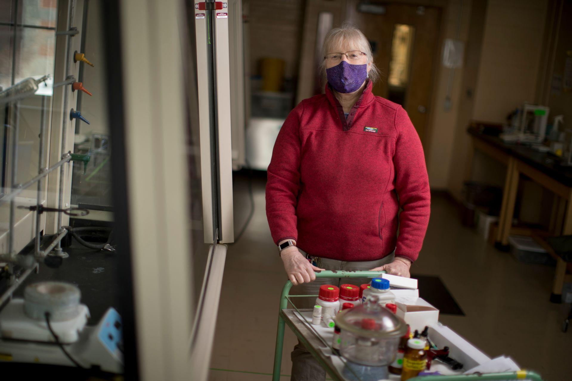 Lorna Clark in organic chemistry lab