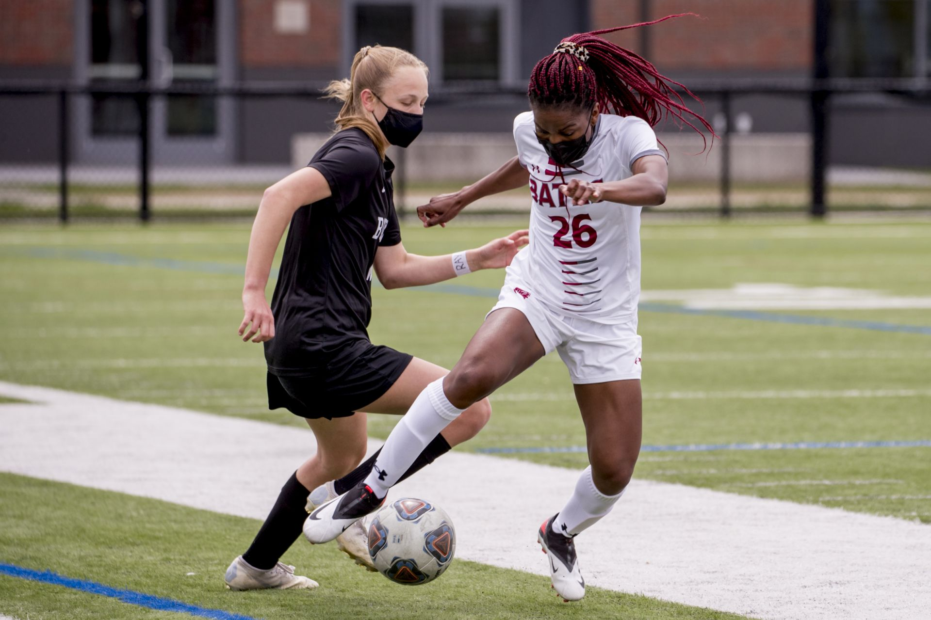 Bowdoin defeated Bates 1-0 in a scrimmage on Garcelon Field onSaturday,May 8, 2021.
