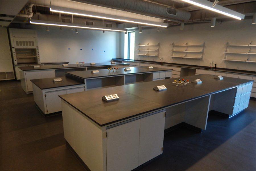 A chemistry teaching lab. (Doug Hubley/Bates College)