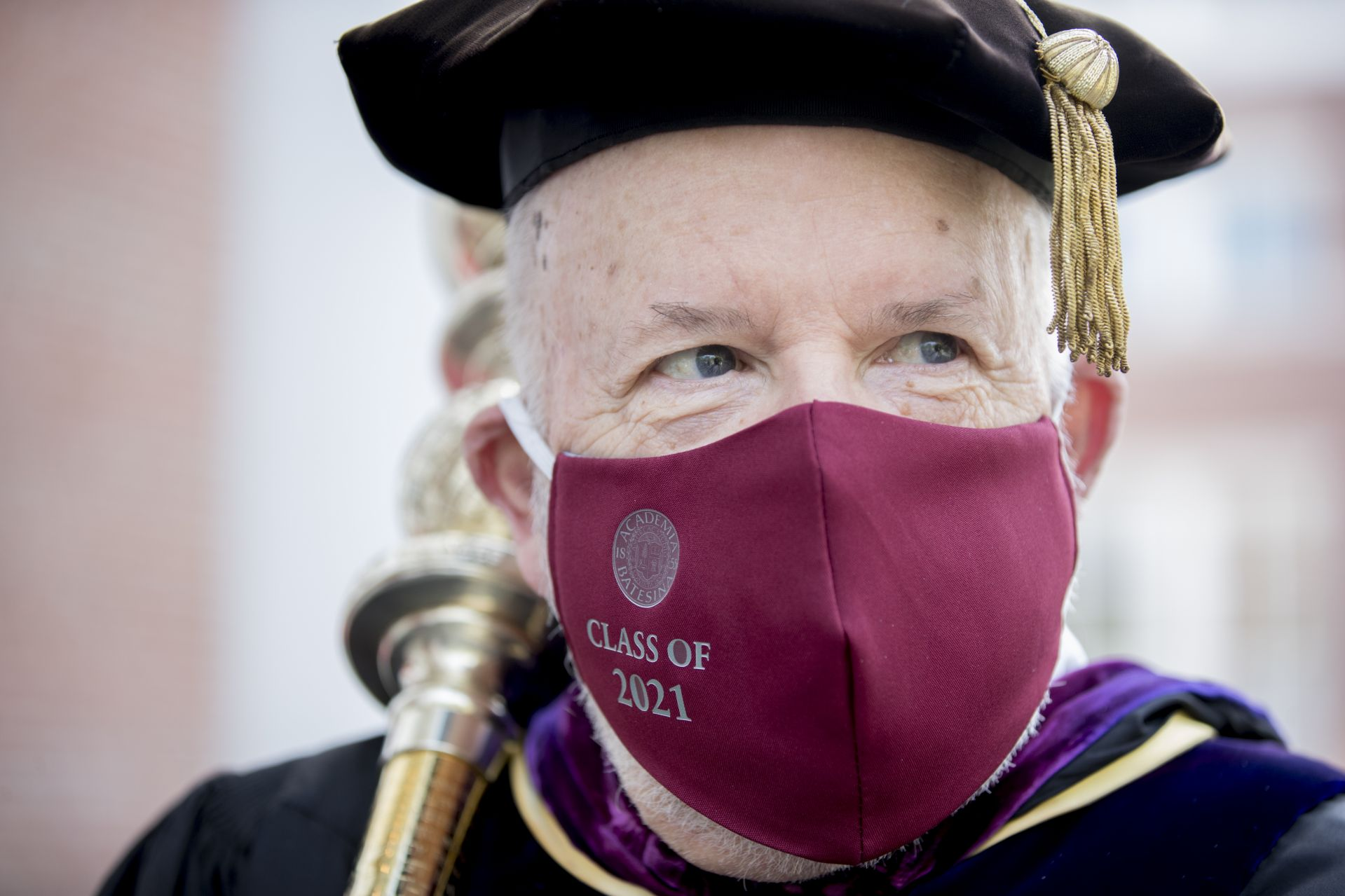Scenes from the morning Commencement at Bates College on May 27, 2021. (Phyllis Graber Jensen/Bates College)