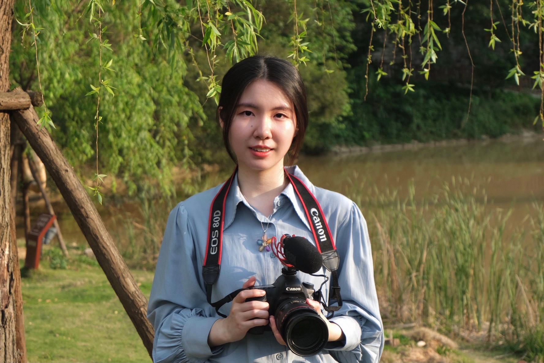"""Wenjing_Sheng '21 of Wuhan, China, a studio art major, is working on a senior thesis video project, """"Old Home,"""" about her grandparents. She is in China for the 2020-21 academic year. ______________________The photographer is Zhao Li. And the location of this photo is Gaogai Mountain, Fuzhou, China."""