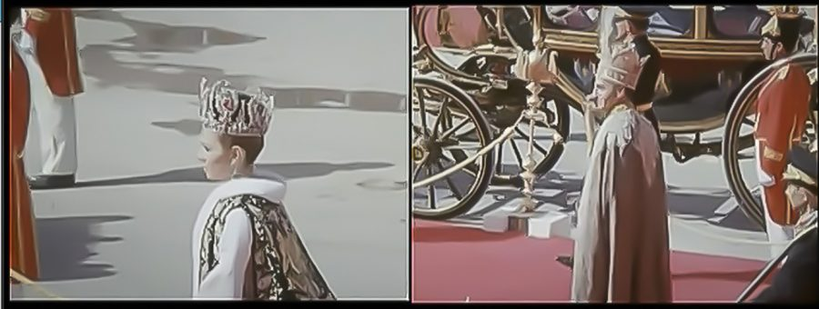 A still from Eli Eshaghpour's film, But at Least We Remember, shows the 1967 coronation of the last Shah of Iran.