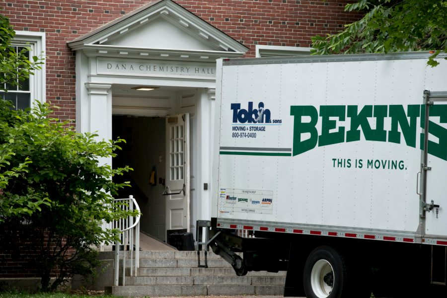 The moving of people and material from Dana Chemistry to the Bonney Science Center begins on June 8. (Phyllis Graber Jensen/Bates College)