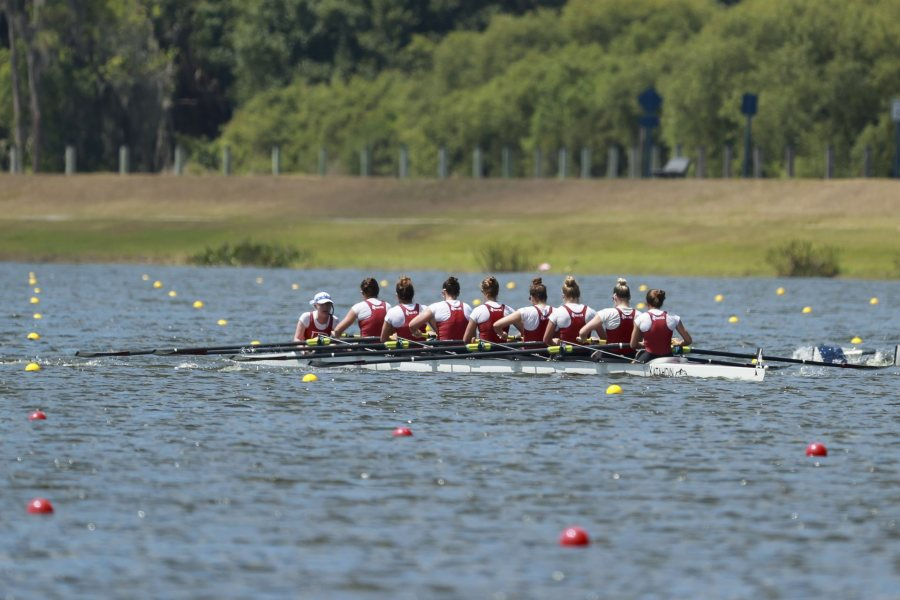 SARASOTA, FL - MAY 29: Bates College competes in the I Eights Grand Final during the Division III Rowing Championship held at Nathan Benderson Park on May 29, 2021 in Sarasota, Florida. (Photo by Justin Tafoya/NCAA Photos via Getty Images)