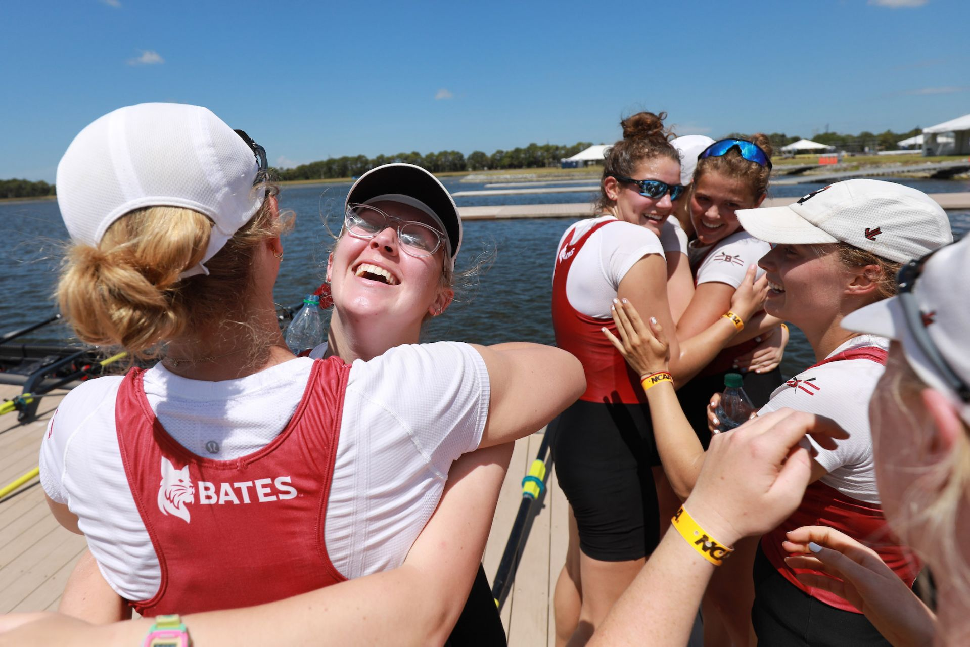 Coxswain Elizabeth Folsom '21 of San Mateo, Calif. led the first varsity eight to a third straight gold medal at NCAAs. (Photo by Justin Tafoya/NCAA Photos via Getty Images)