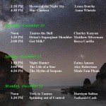 Planetarium Shows – Dec. 9-12, 2011 – FYS 340 Final Projects