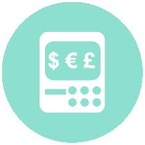 round icon finance