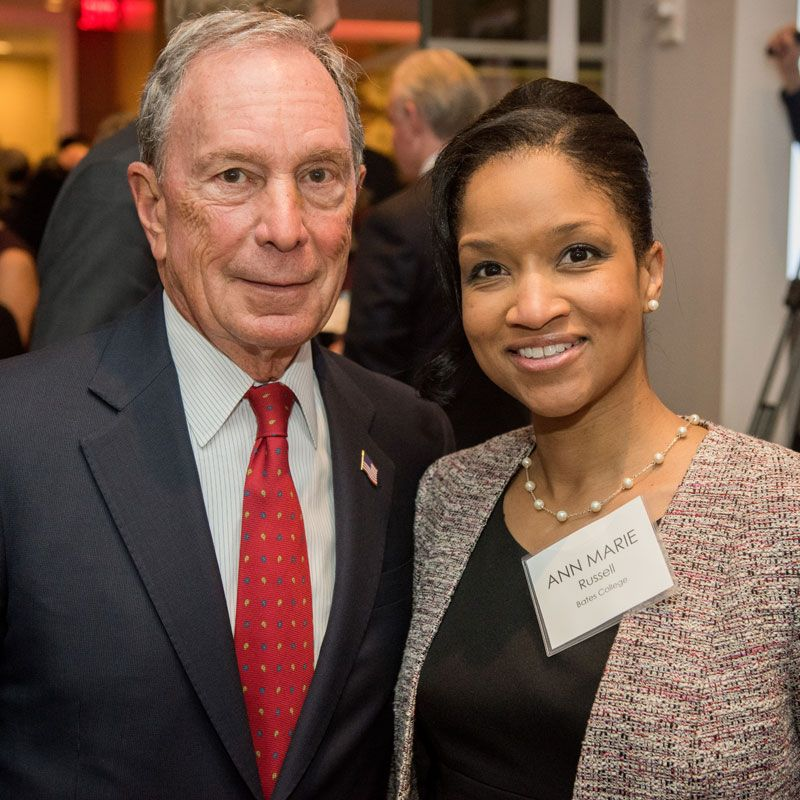Michael Bloomberg and Ann Marie Russell at the ATI Presidential Roundtable