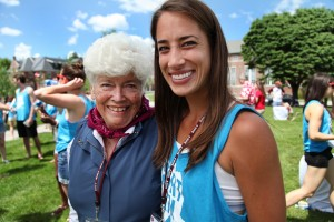Maralyn Davis Mazza '49 and Courtney Stachowski '09