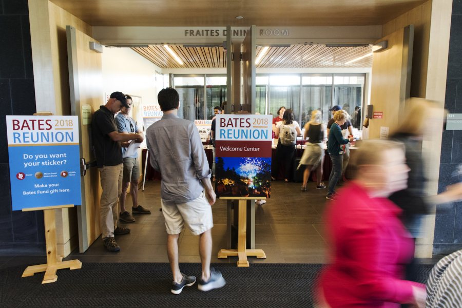 The Welcome Center before the Lobster Bake in Dining Commons on June 8, 2018