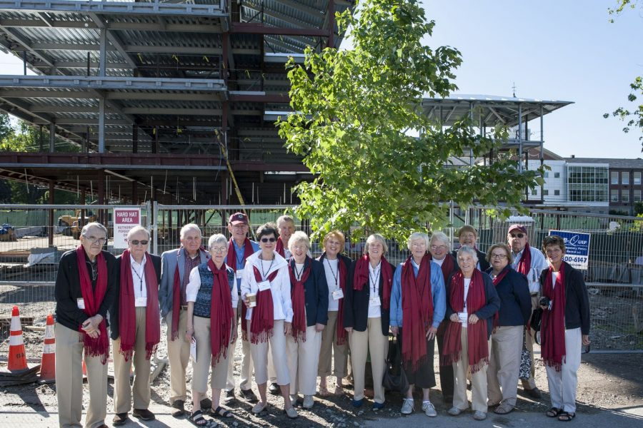 Bates class of 1960 dedicates a tree outside of the new campus construction on Saturday, June 13th 2015.