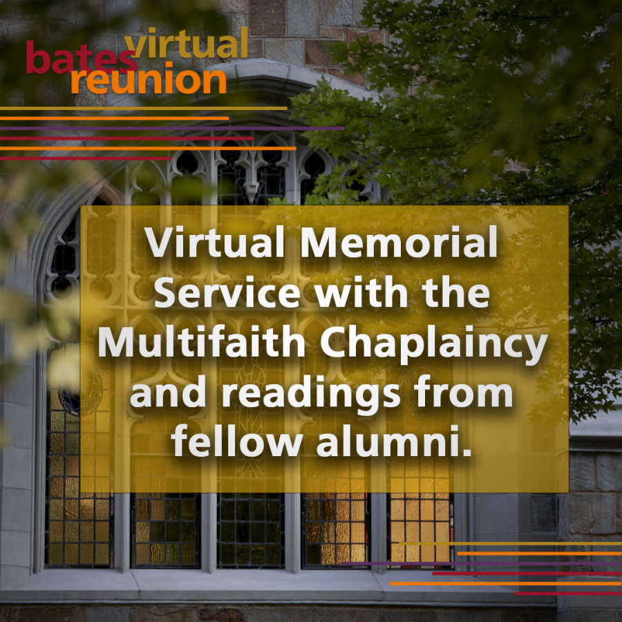 Virtual Memorial Service with the Multifaith Chaplaincy and readings from fellow alumni.