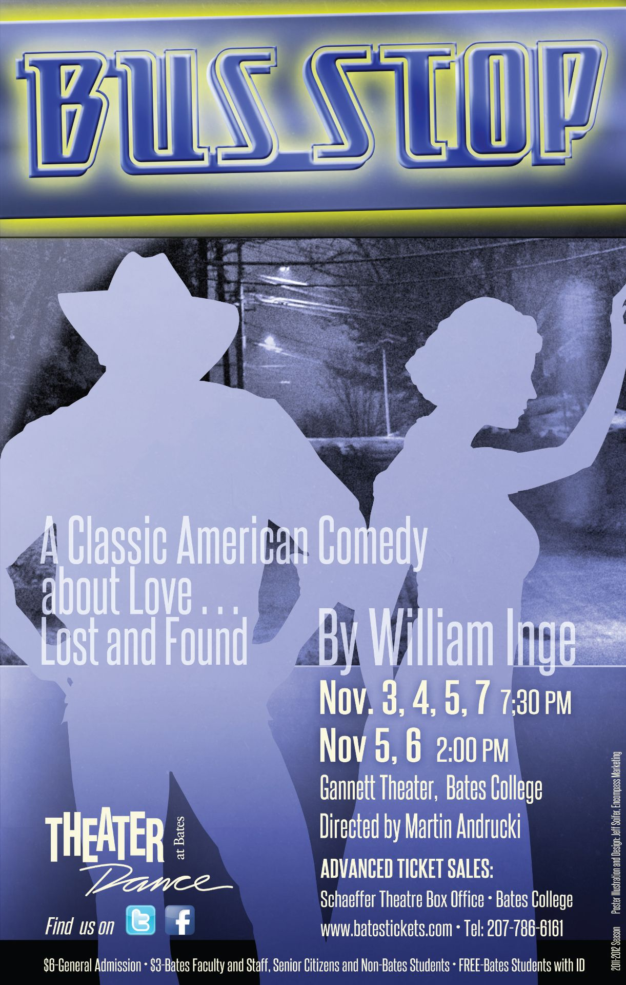 performance posters theater bates college