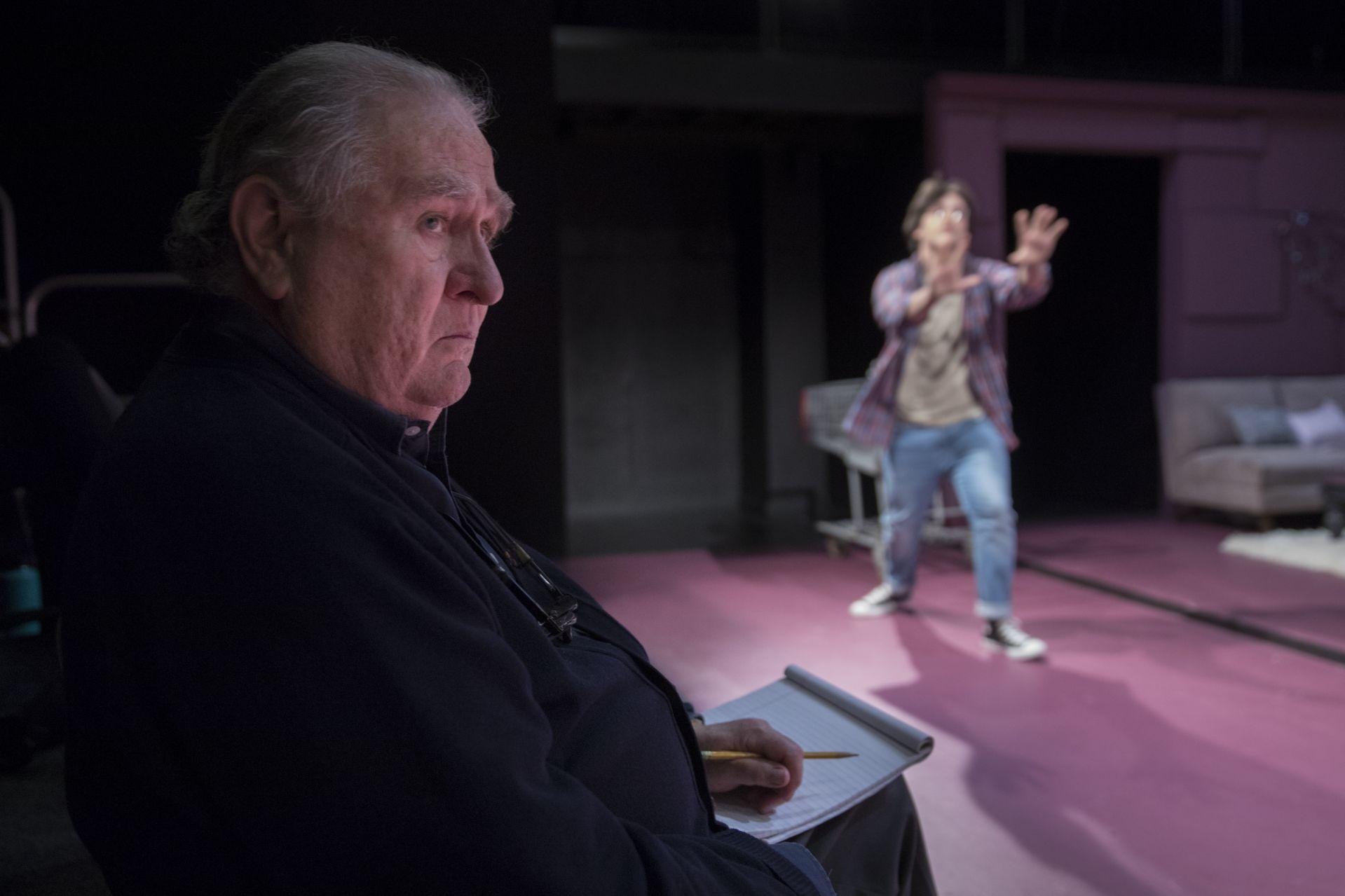 Dana Professor of Theater, Martin Andrucki directs Brady Chilson '23 in Love/Sick. Photo credit Phyllis Graber Jensen