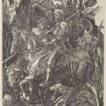 Unknown (after Albrecht Durer), Knight, Death and the Devil, n.d., engraving, 9 5/8 x 7 3/8 inches, Gift of Robert Flynn Johnson, 1992.14.11