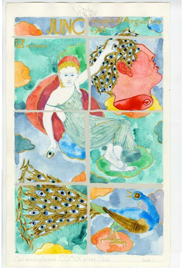 Juno Recycled Argus' 100 Eyes, 7/13/1997, Wally Reinhardt, Watercolor, 18 X 11.25 inches, Museum purchase through the generous support of Bill Gosling, Class of 1965