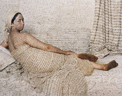 Grand Odalisque 2008, Lalla Essaydi, C-print,  30 x 40 inches,  Museum purchase