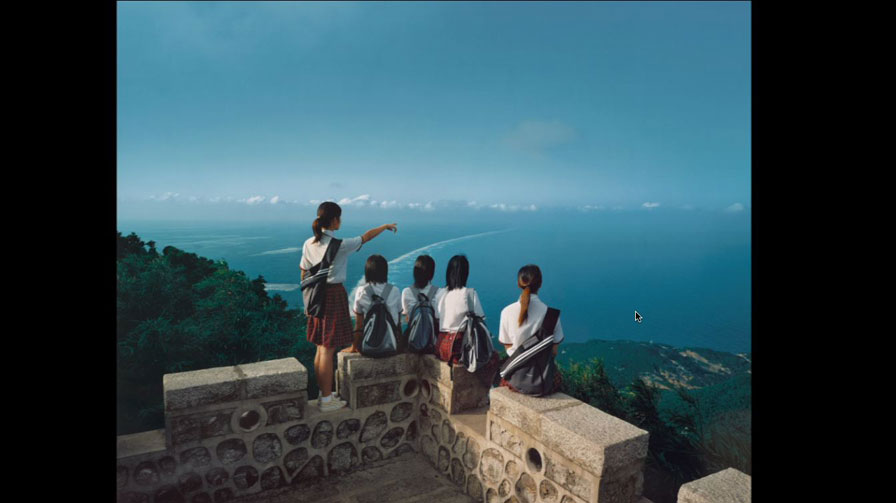 Weng Fen (born 1961, Chinese),  Staring at the Sea No. 6, 2003, color photograph, ed 4/10, 42 1/5 x 34 5/8 inches, Museum purchase, 2004.23.1