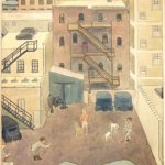 "A Chicago Backyard, Ruth B. Fuller Irving (1893-1996, United States, 15""x13"", Gift of the Artist"