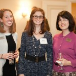 L to R: Hayley Anson '06, Asst. Director of Annual Giving, Rachel Warner '08, Christina Traister '94.