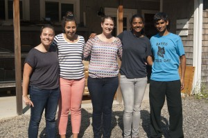 The Williams Lab, Summer 2014 (Left to Right): Katie, Sophie, Larissa, Roshni, and Nabil