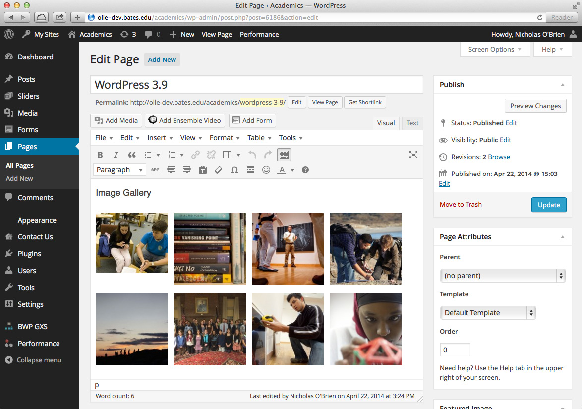 how to add anchor in wordpress menu for single page