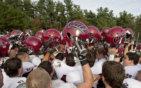 during a 14-6 victory over Bowdoin in Brunswick on November 3, 2012.